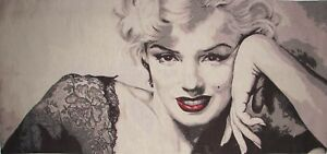 """MARILYN MONROE 132CM X 62CM, 52"""" X 24"""" FULLY LINED BELGIAN TAPESTRY WALL HANGING"""