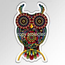 funny car bumper sticker colourful owl decorated 82 x 138 mm vinyl zen decal