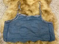 Ellipse blue lace Camisole Top sleepwear nightwear size L