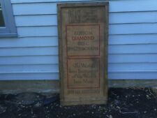 Antique Large c.1910? Edison Phonograph Record Player Crate Top Wood Vtg Sign