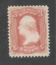 U.S. Scott 94 Washington 3c red stamp, mint light hinge mark.