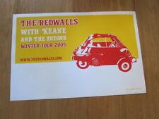 REDWALLS Keane 2005 concert poster orange #ed signed
