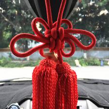 1Pcs New VIP Car Charm JDM Fusa Red Kiku Knot Car Rearview Mirror Decoration