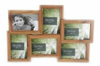 6 Wood Effect Multiple Hanging Photo Picture Frame