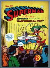 Australian SUPERMAN 53 DC Comics 1950's w Superman 81 cover UK