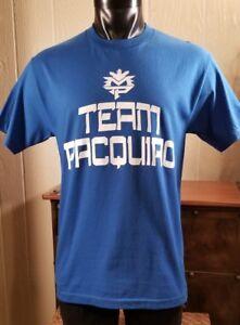 Manny Pacquiao TEAM PACQUIAO Boxing Cotton Blue T-Shirt Sz M