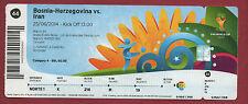 Orig.Ticket    WM BRASILIEN 2014  BOSNIEN HERZEGOWINA - IRAN / Spiel 44 ! SELTEN