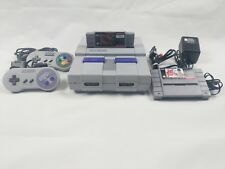 Super Nintendo SNES 001 Console 2 Controllers 2 Games Power & A/V Cords WORKING
