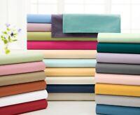 Bedding Set Select Item 1000 TC Egyptian Cotton Solid Colors UK Double