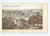 Postcard Birdseye View of Winchester 1910 era