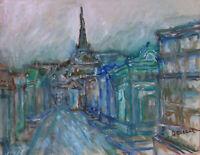 New Orleans French Quarter Original Oil Painting Impressionist Deveaux Signed