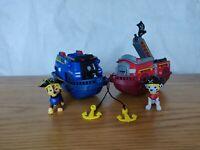 Paw Patrol Pups Pirate Ship Boat Vehicles Chase & Marshall 🐾