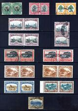 SOUTH AFRICA 1926 - 30 : 12 TYPO PAIRS ½d TO 2s6d RANGE SG30 - 39 : USED Or MINT