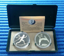 1988 Canada Calgary Winter Olympic Games 2X $20 Commemorative Silver Proof Coin
