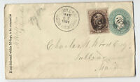 1881 West Gouldsborough ME registered cover 10ct banknote [y3112]