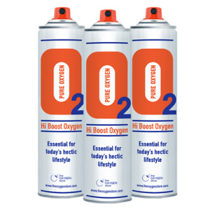 3x 10L Pure Canned Portable Oxygen In A Can Canister 99.5% Sports Therapy