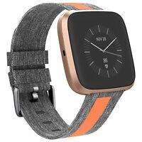 Für Fitbit Versa/Versa 2/Versa Lite Smart Watch Canvas Armband Ersatzband Strap