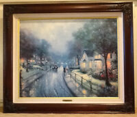 Thomas Kinkade Canvas Framed Hometown Memories I - Artist Proof (A/P) SN