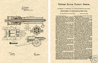 GATLING GUN US PATENT Art Print READY TO FRAME !! 1862 Vintage Machine Gatlin