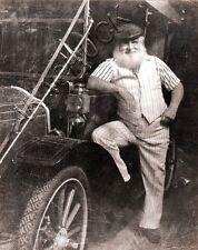 Poses w Antique Flanders Car R HENDRICKSON PHOTO Original Artist Studio D907