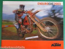 KTM EXC 2003 ENDURO CATALOGO BROCHURE  PUBBLICITA PROSPEKT