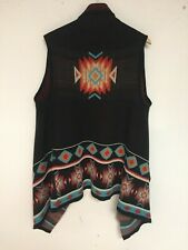 Women's TRIBAL Theme VEST Acrylic SWEATER Knit NATIVE AMERICAN Design