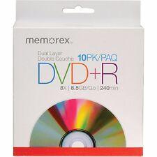 Memorex Dual Layer DVD+R 10-pack - 8X, 8.5GB, 240 mins
