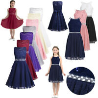 Kids Princess Party Dress Flower Girls Pageant Wedding Bridesmaid Formal Dresses