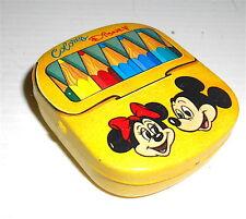 TOPOLINO + MINNIE  80s Walt Disney italy tin box with memo - scatola latta notes