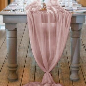 Chiffon Romantic Wedding Brithday Party Table Runner Tablecloth Tablewear Cover