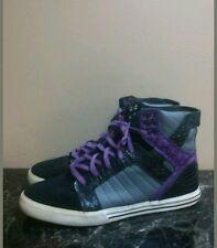 Supra Foam Black/Purple Snakeskin Print Boots Size 12 Used