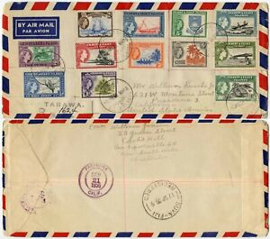 GILBERT + ELLICE 1956 PICTORIALS SET on FIRST DAY COVER REGISTERED TARAWA