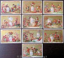 Chromo Liebig Sang. 96 FRA Scene in Costumi Tedeschi (10 fig.) ANNO 1878/83