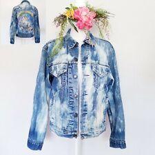 80s Unicorn Rainbow Painted Levis Denim VTG Jean Trucker Jacket Mens M Womens L