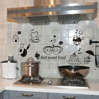 Fridge Coffee Stickers Removable Wall Stickers Room Wall Kitchen Stick Jf
