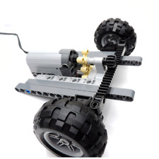 New LEGO technic Front Suspension Steering System with servo motors and tyres
