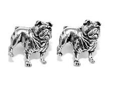 British Bulldog Cufflinks Handmade by Hoardersworld English Pewter Gift Boxed