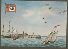 British Packet boat from Harwich, Helvetsluys 1794 Royal Mail    postcard z.96
