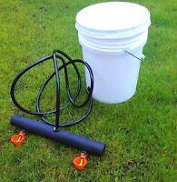 Chicken Watering Bucket System 5 gallon drinker cups poultry coop water Farm