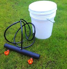 Chicken Watering Bucket System 5 gallon drinker cups poultry coop water Farm