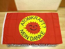 Fahnen Flagge Atomkraft nein Danke Rot - 90 x 150 cm