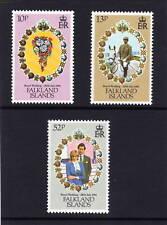 FALKLAND IS.1981 ROYAL WEDDING SET SG 402-404 MNH.