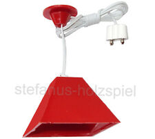 Hängelampe rot 3,5V mit LED für Puppenhaus, Puppenstube, Kahlert 19531