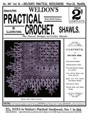 Weldon's 2D #207 c.1902 Vintage Patterns to make Crochet Shawls