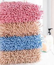 Tapis de bain bleu coton