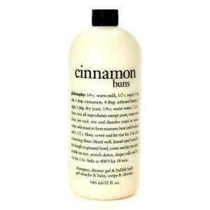PHILOSOPHY CINNAMON BUNS BATH SHOWER SHAMPOO WHOPPING 32 FL OZ BOTTLE SEALED