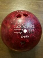 CALIFORNIA 300 Bowling Ball Columbia 300? White Dot Red Swirl B042 10.3lbs