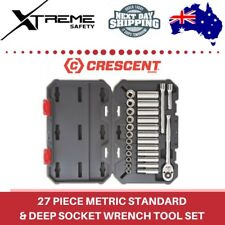 Crescent 3/8″ Drive 6 & 12 Point Metric Standard and Deep Socket Wrench Tool Set