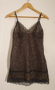 ELLE MACPHERSON Black Lace Slip, Size 12