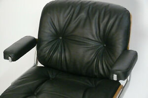 Polster STOLL GIROFLEX 60er / 70er Schreibtischstuhl Lounge Leder 60s 70s Chair